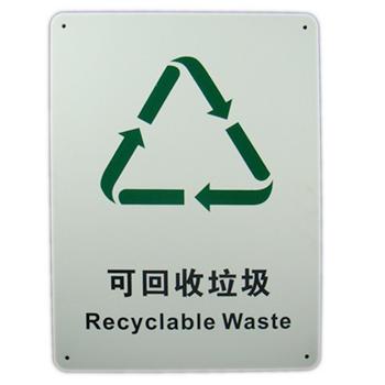 博尔杰 城市生活垃圾分类 可回收垃圾 安全指示牌 标识牌 标签提示牌